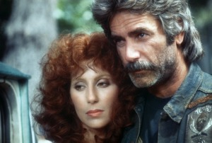 Bikers Sam Elliot and Cher from the film